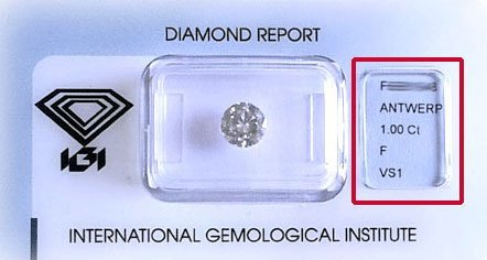 Prezzo diamante F-VS1