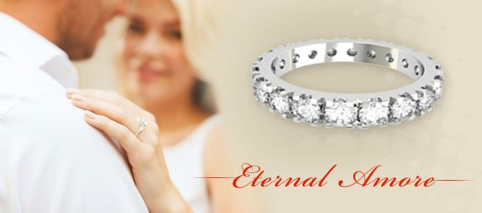 Eternity diamond rings made in Italy